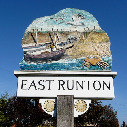 East Runton village sign, Norfolk
