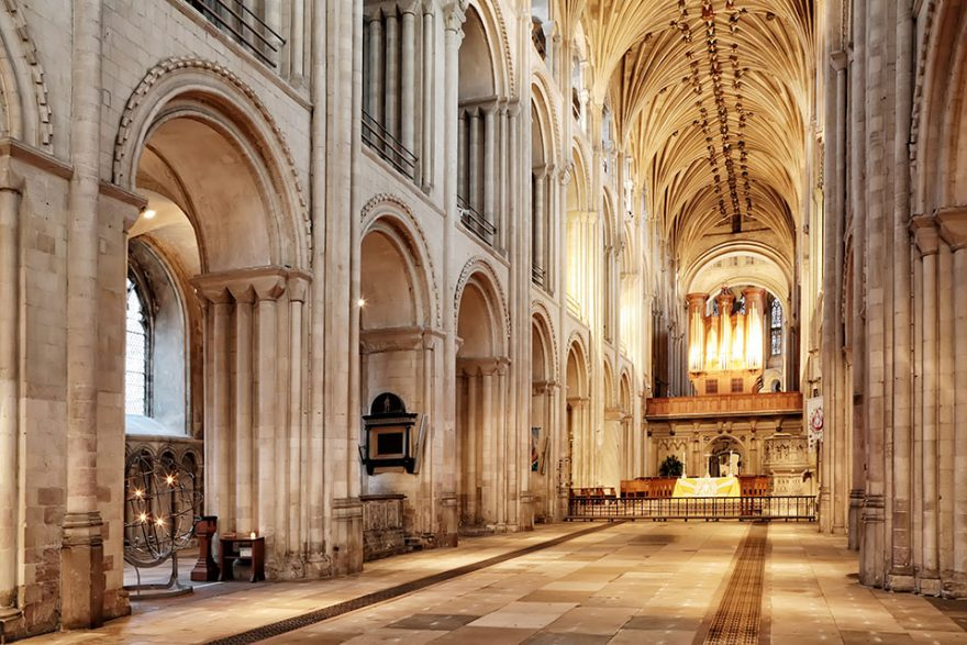Norwich Cathedral Nave - Copyright: Paul Hurst (all rights reserved)