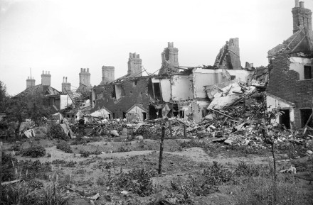 Air raid damage in Norwich