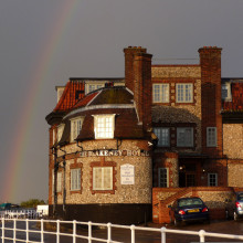 The Blakeney Hotel close to sunset following a storm