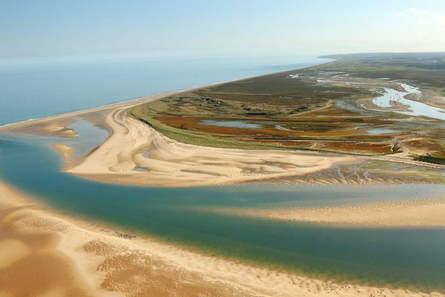 Aerial photo of Blakeney Point, Norfolk - by Mike Page