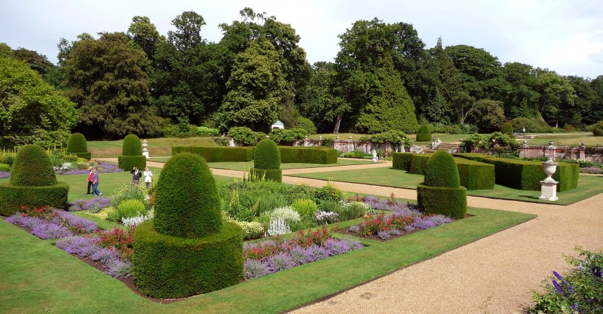 The parterre at Blickling Hall Gardens