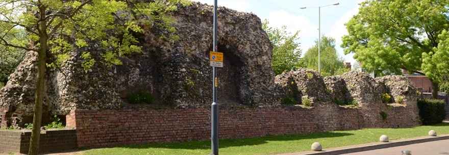 The old city wall of Norwich