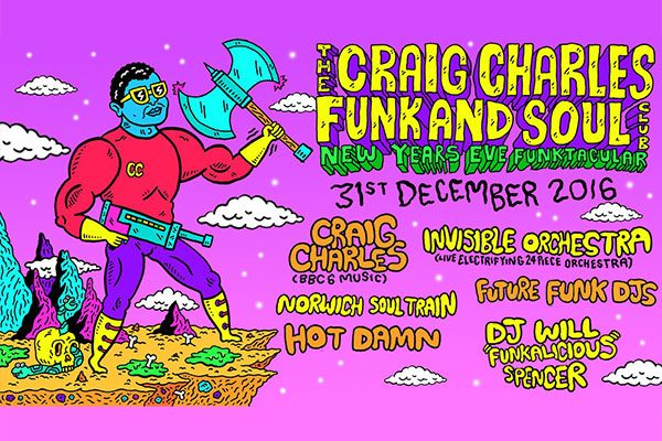 New Year's Eve 2016 at OPEN, Norwich with The Craig Charles Funk and Soul Club