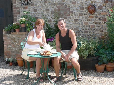 Dave & Theresa at The White Cottage bed and breakfast, Norfolk
