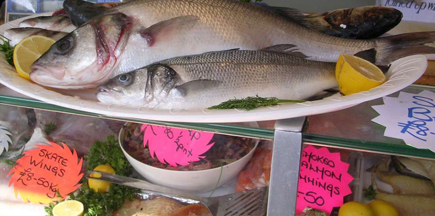 Fish at Fakenham Farmers Market, Norfolk