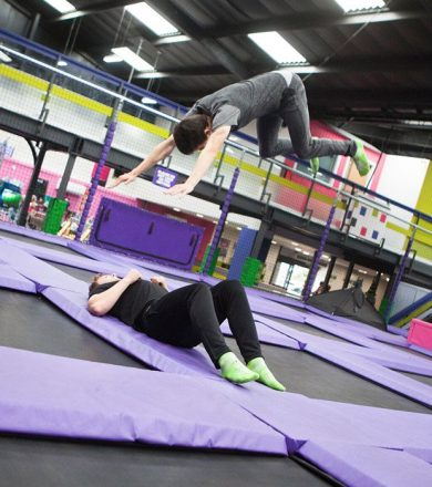 Freestyle trampolining at High Altitude Trampoline Park, Norwich