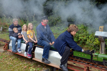 Miniature railway at Holt Station, Norfolk