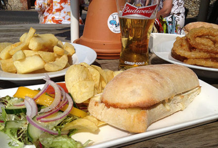 Pub lunch, Norfolk (The Ship Inn, Weybourne)
