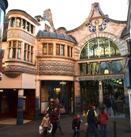 The elegant Art Nouveau Royal Arcade